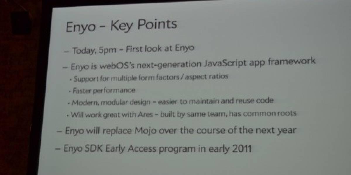 Enyo: El nuevo Framework de Palm que llevará webOS a las tablets