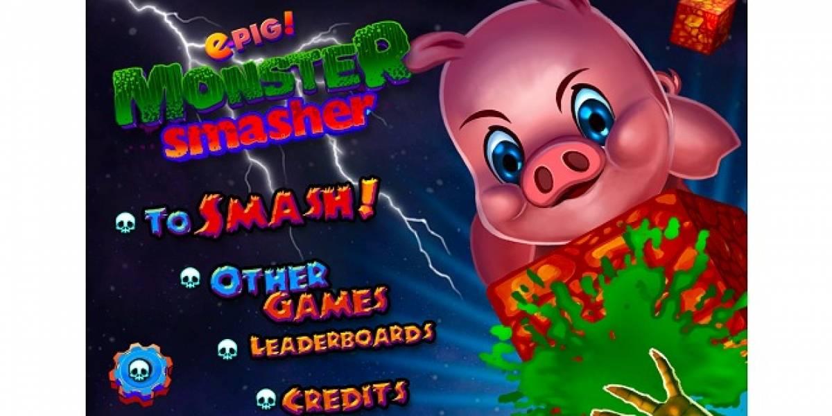 Chile: Lanzan nuevo juego e-Pig! Monster Smasher