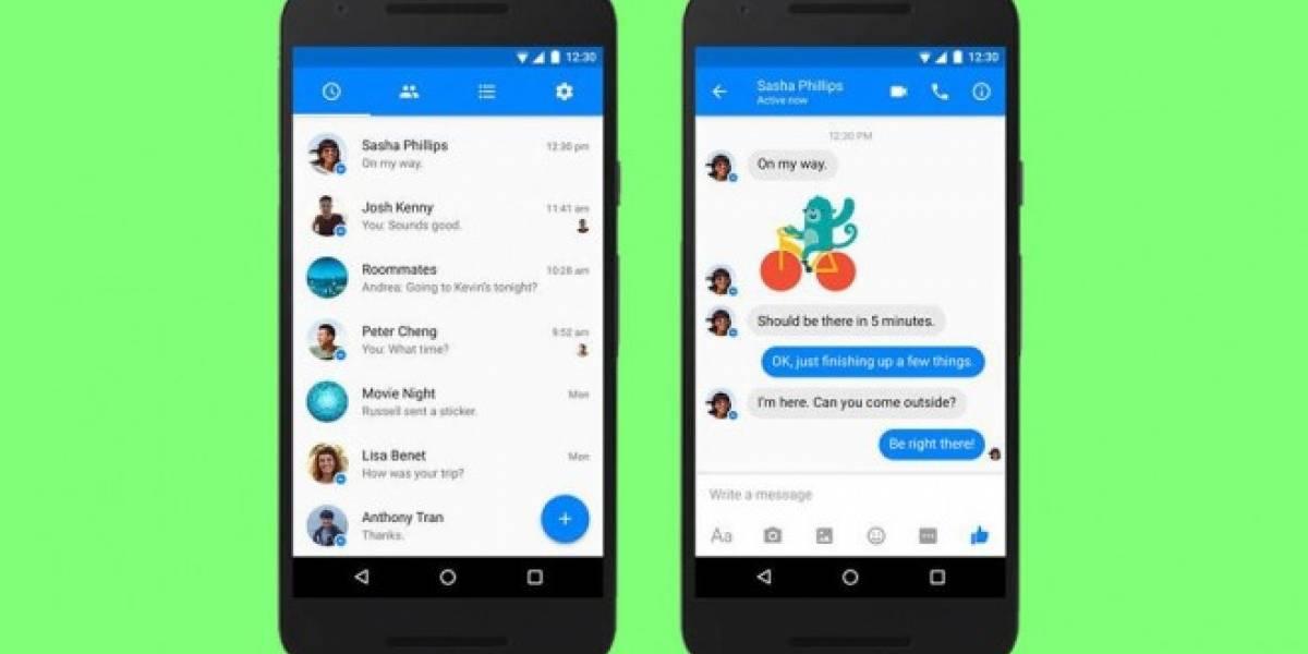 Facebook Messenger para Android cambia su diseño y queda irreconocible