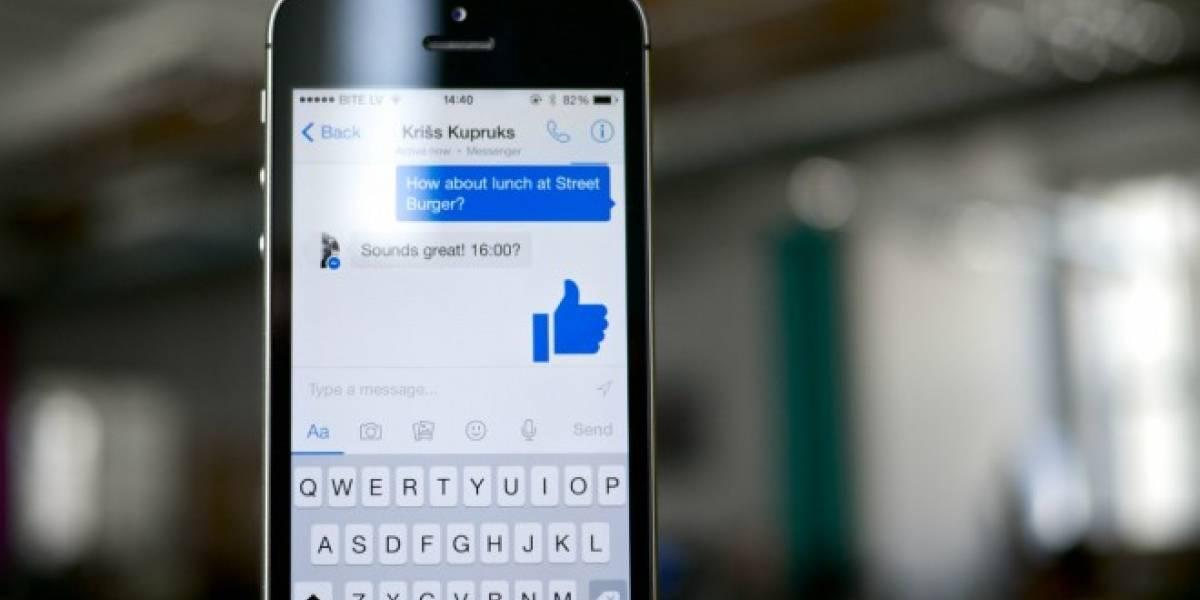 Facebook Messenger está probando mensajes efímeros estilo Snapchat