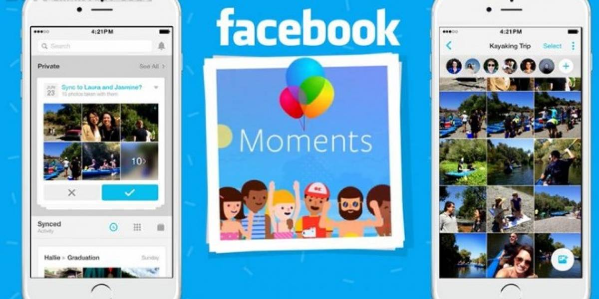 Facebook te forzará a usar la app Moments para sincronizar fotos