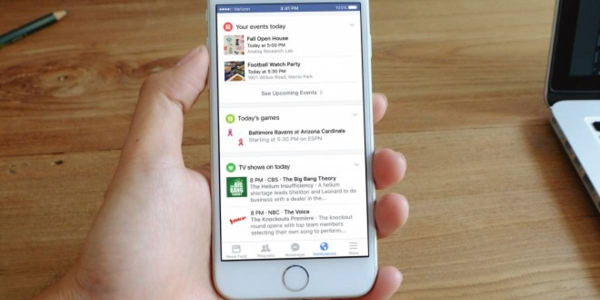 Facebook mejorará la barra de notificaciones en sus aplicaciones móviles