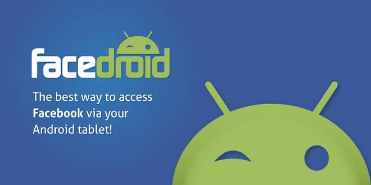 Con facedroid las tabletas Android no extrañan una app oficial de Facebook
