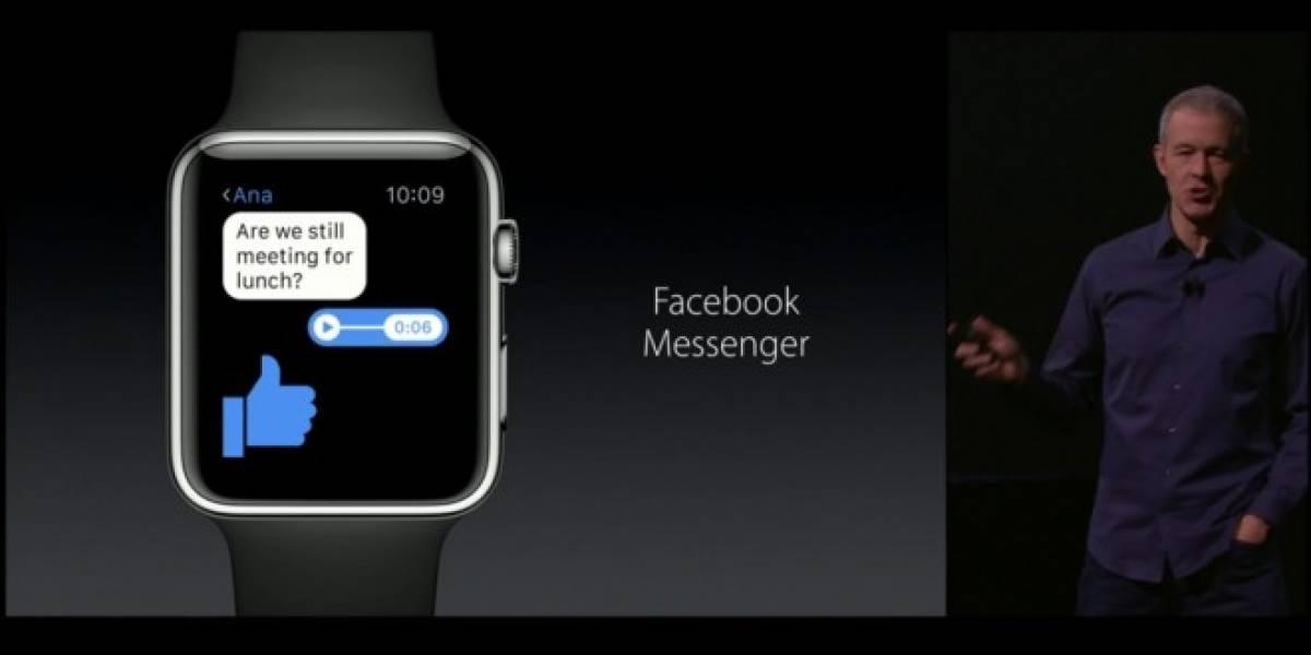 Facebook Messenger llega al Apple Watch