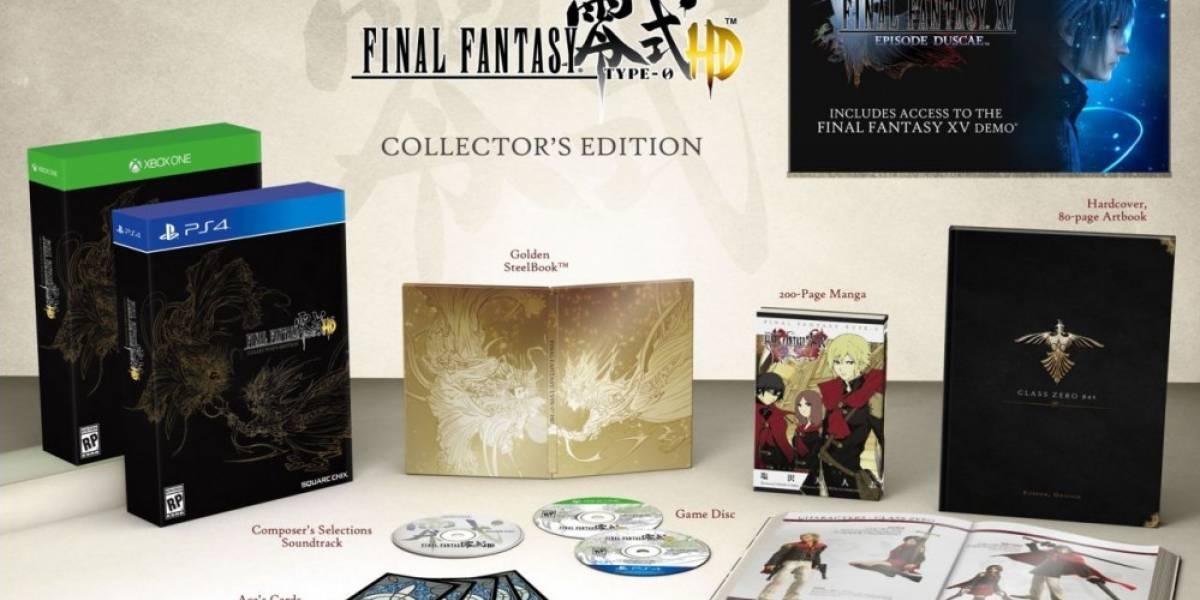 Conozcan la edición de colección de Final Fantasy Type-0 HD