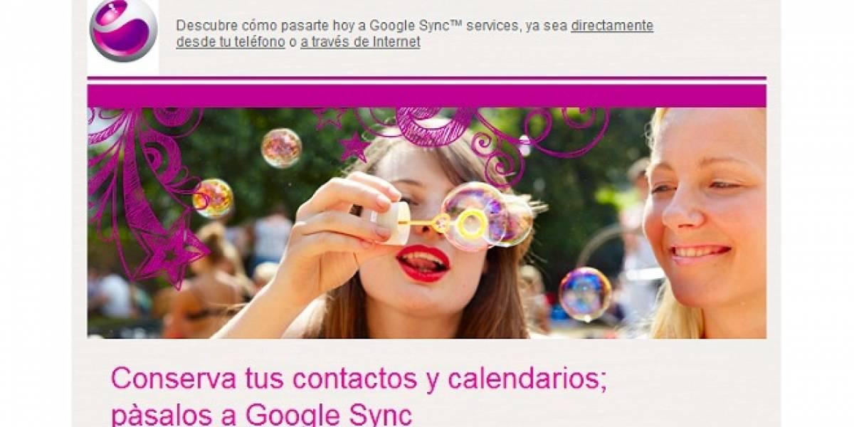Sony Ericsson Sync se cerrará este jueves e invitan a usar Google Sync