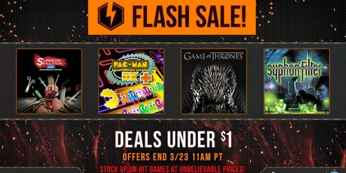 Nueva venta relámpago en PSN con juegos por menos de un dólar