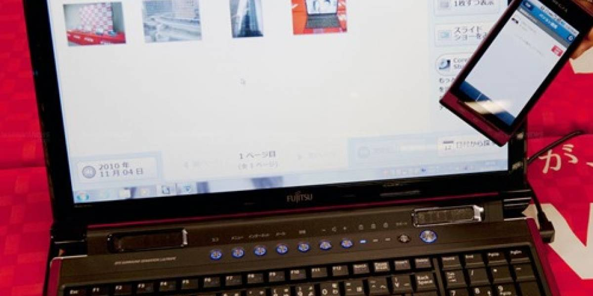 Fujitsu facilita el envió de fotos y video entre móvil y PC