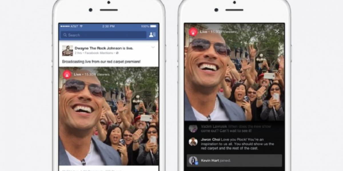 Facebook lanza modalidad de video streaming exclusiva para celebridades