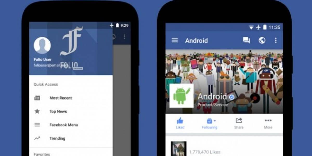 Folio te permite usar Facebook sin gastar tanta batería del celular