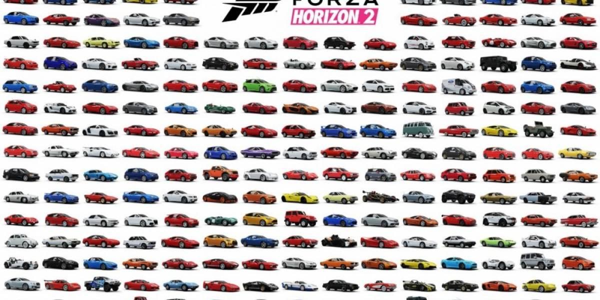 Se revela la lista completa de autos disponibles en Forza Horizon 2