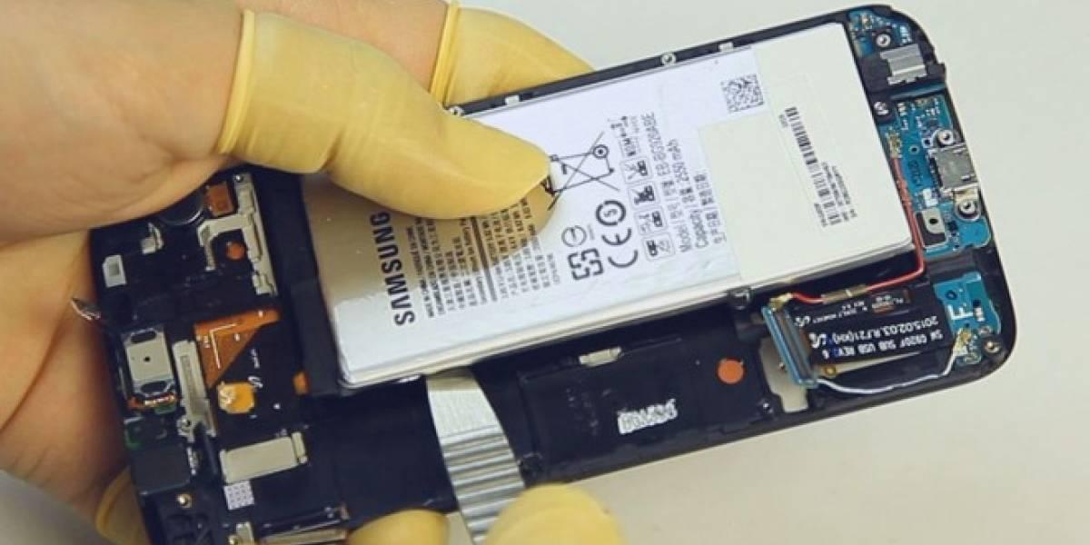 Reemplazar la batería del Galaxy S6 no será sencillo