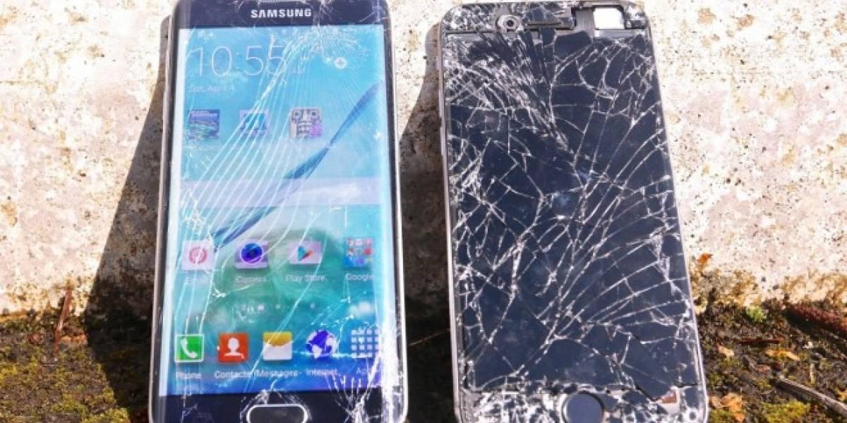 Galaxy S6 Edge se enfrenta al iPhone 6 en prueba de caída