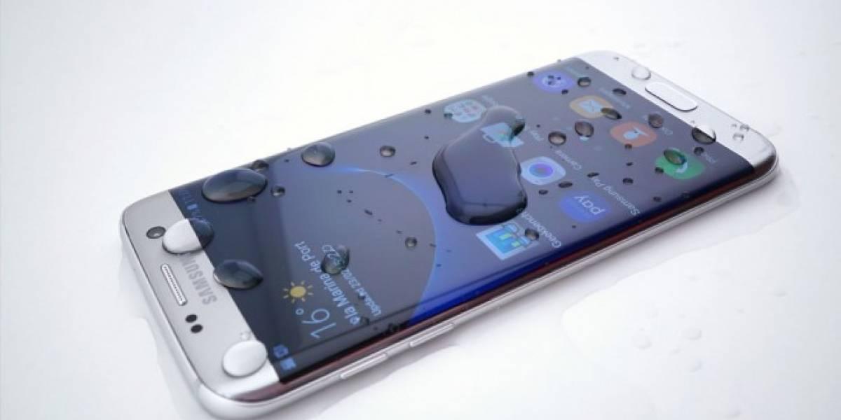Así funciona el Samsung Galaxy S7 para repeler el agua
