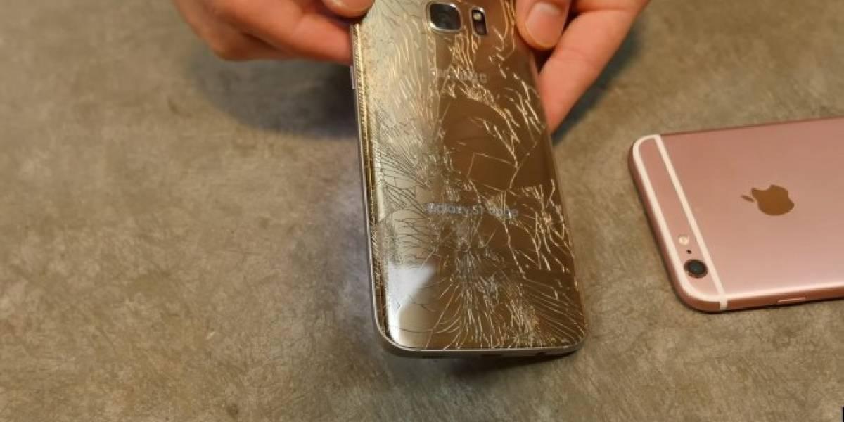 Galaxy S7 Edge se enfrenta al iPhone 6S Plus en pruebas de durabilidad