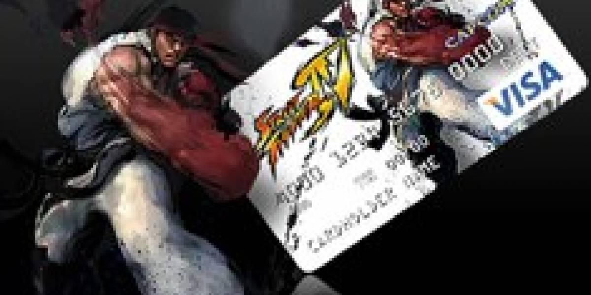 Tarjeta VISA de Street Fighter IV