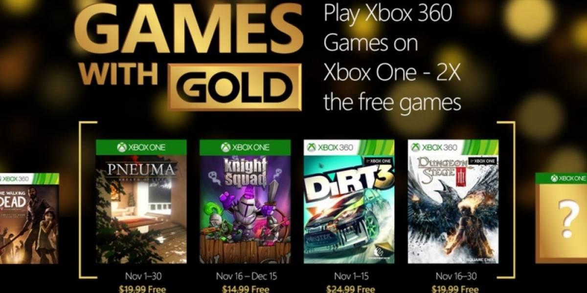 Games with Gold para noviembre: Pneuma, DiRT 3 y más