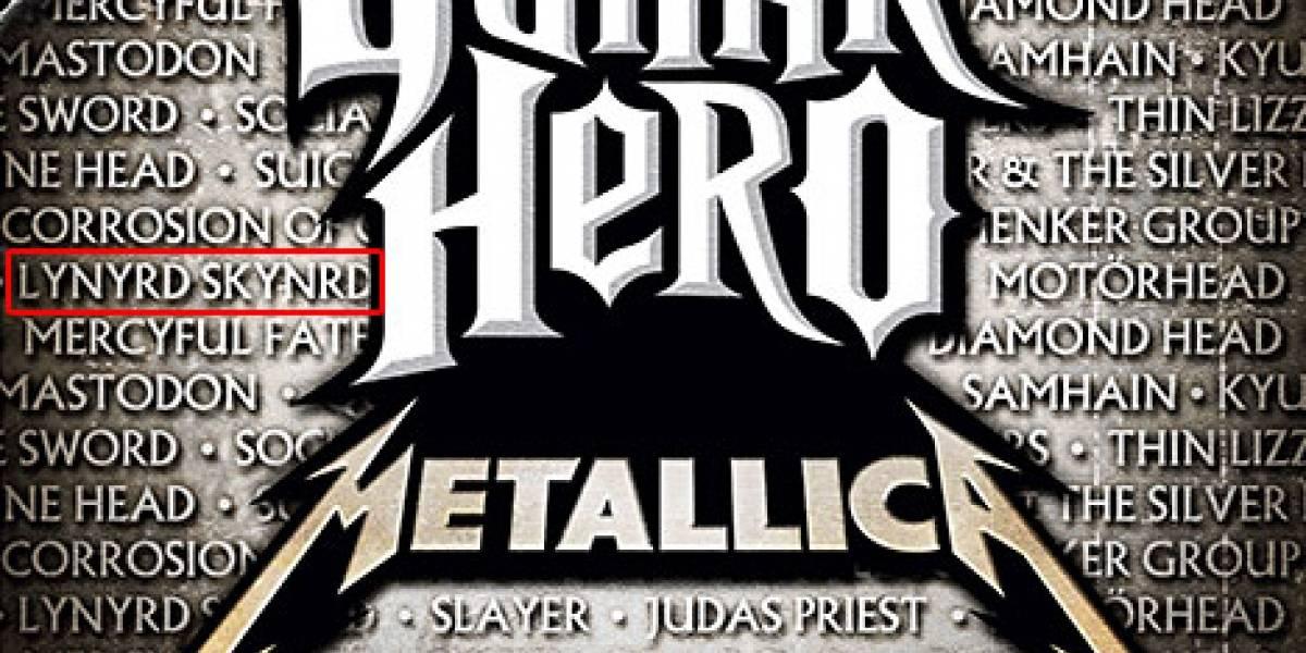 Lynyrd Skynyrd mal escrito en la portada de GH: Metallica
