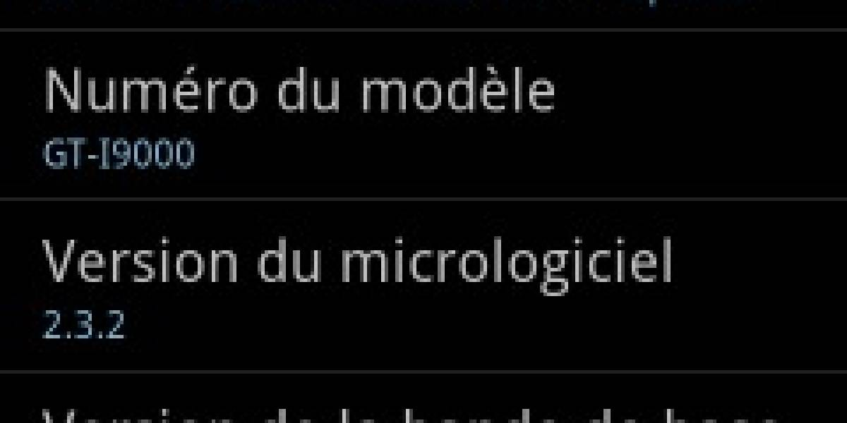 Ya es posible instalar a la mala Android 2.3.2 Gingerbread en el Galaxy S