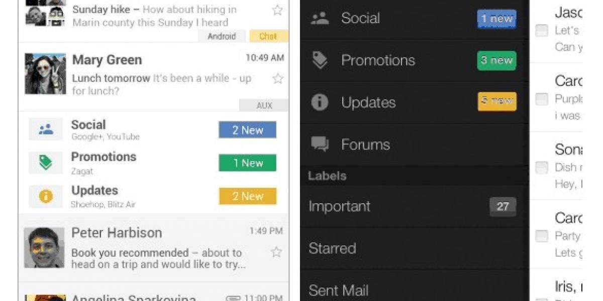 Wohooo! Se filtra una nueva cara de Gmail para Android