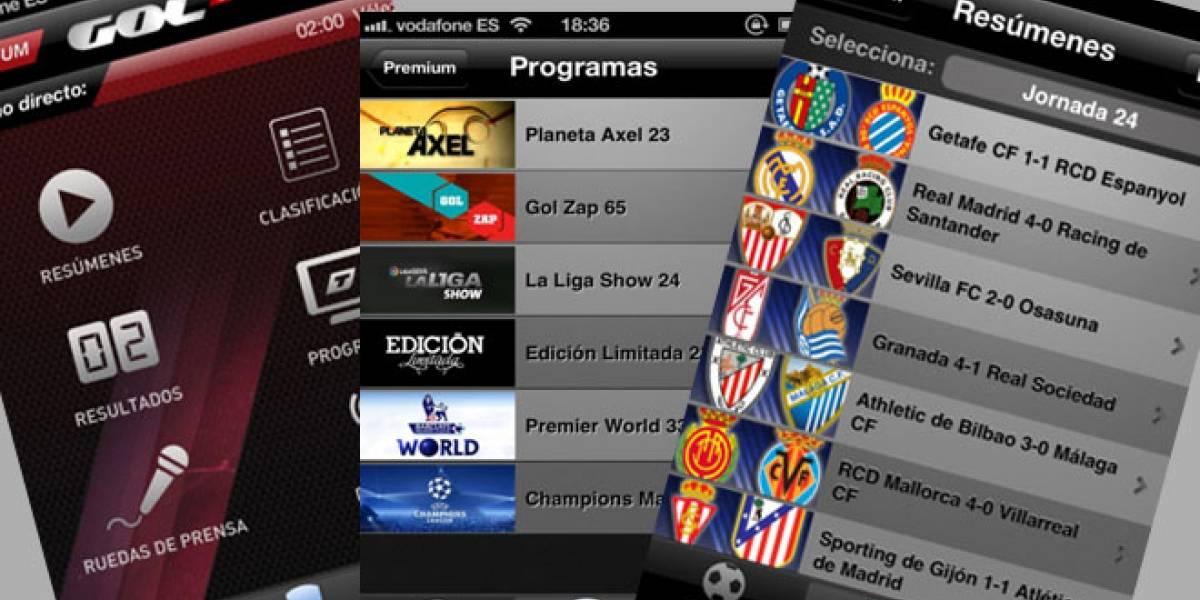 España: Gol Stadium ya está disponible para iOS