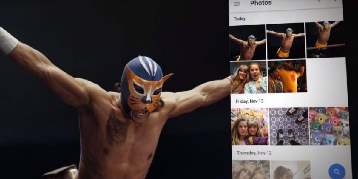 Google Fotos y la lucha libre se fusionan en un nuevo anuncio