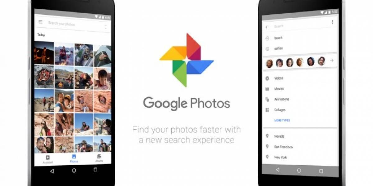 Google Fotos integra un buscador en su versión más reciente