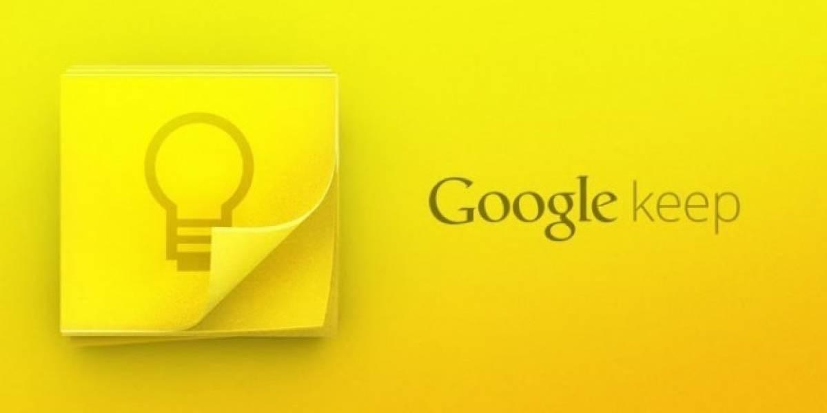Google Keep recibe actualización con nuevas funciones