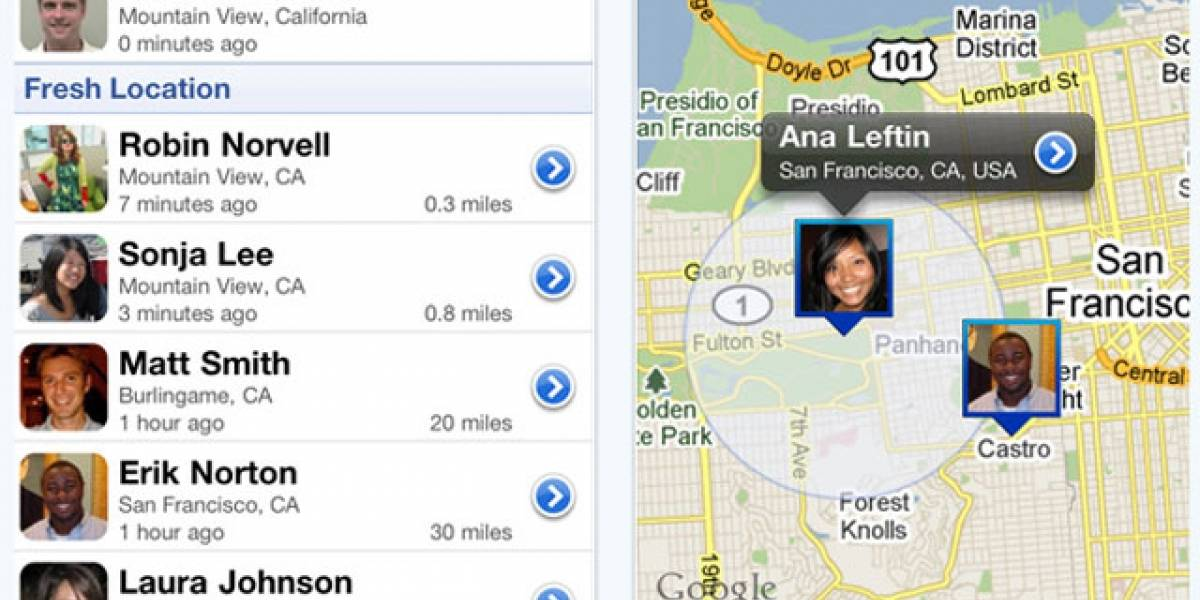 Google Latitude ahora tiene aplicación para iPhone
