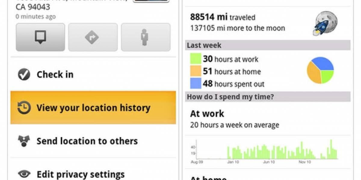 Nueva versión de GMaps para Android: historial de localizaciones y registro en casa