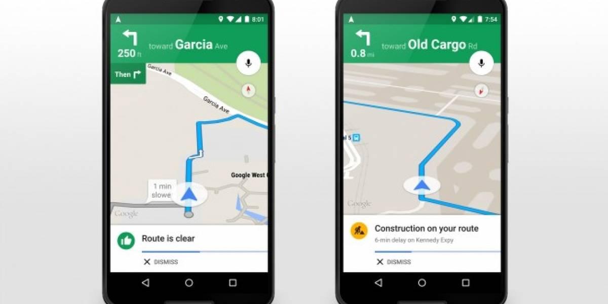 Google Maps agrega alertas y explicaciones de congestiones
