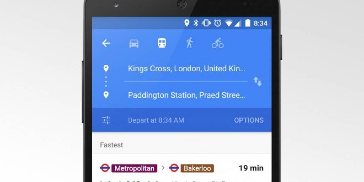 Google Maps agrega información de transporte público en tiempo real