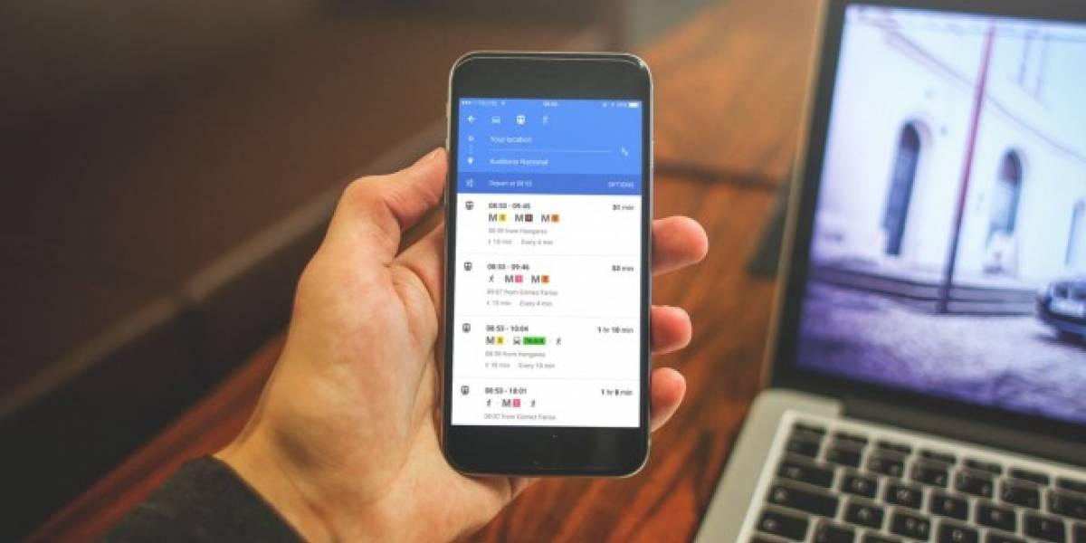 Google Maps Transit ya está disponible en México