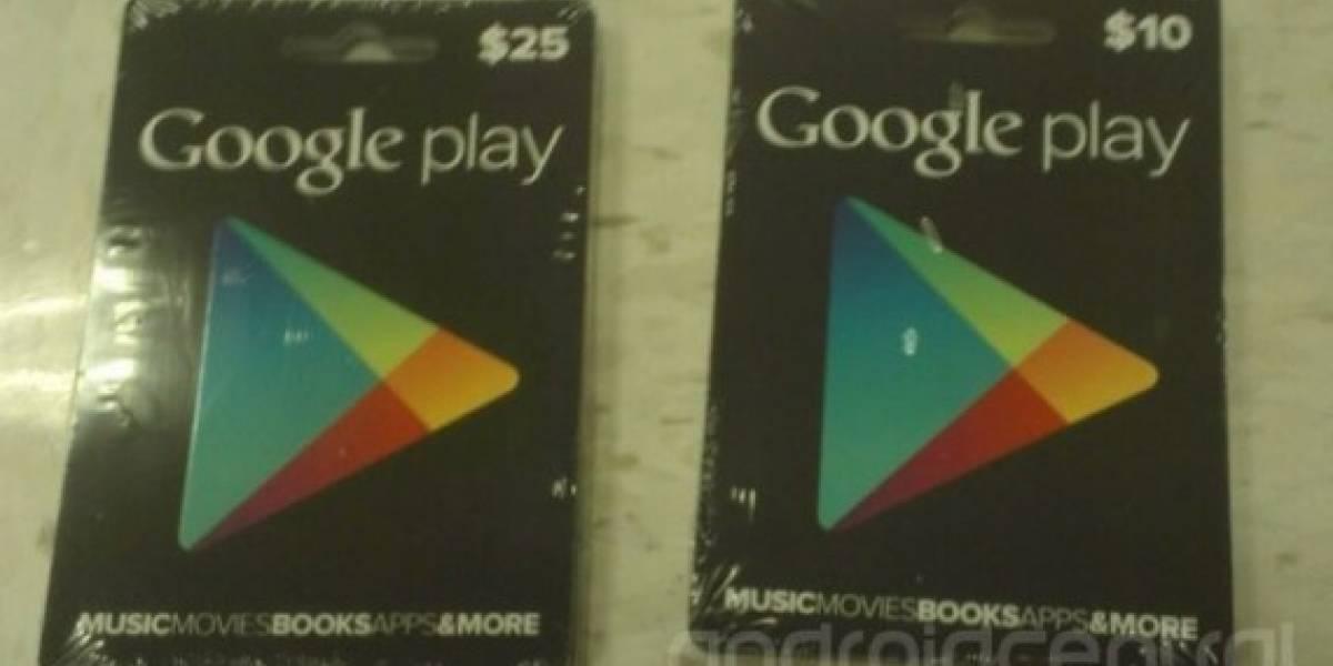 Próximamente se podrán usar Gift Cards para comprar en Google Play