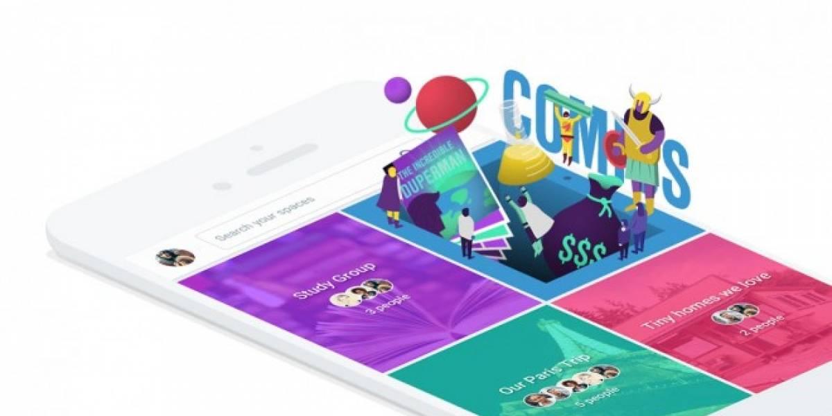 Google Spaces es una nueva aplicación grupal para compartir cosas