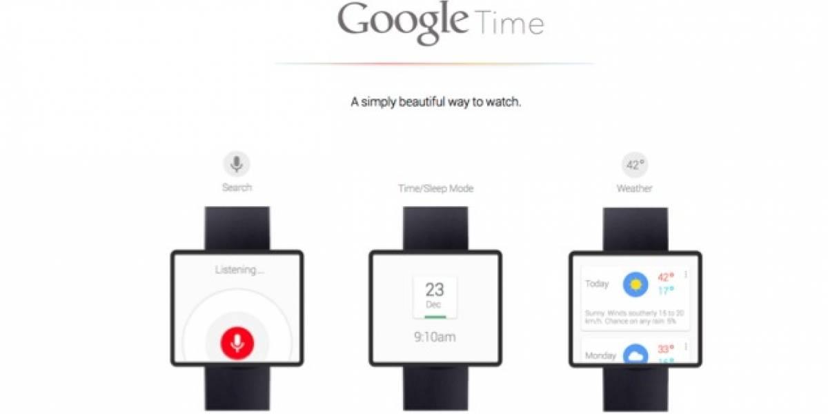 Google Time un reloj inteligente concepto