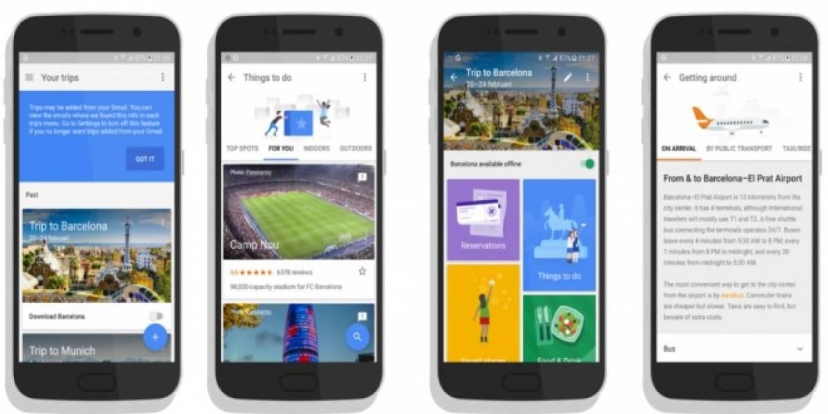 Google trabaja en una aplicación que te ayuda a planear viajes