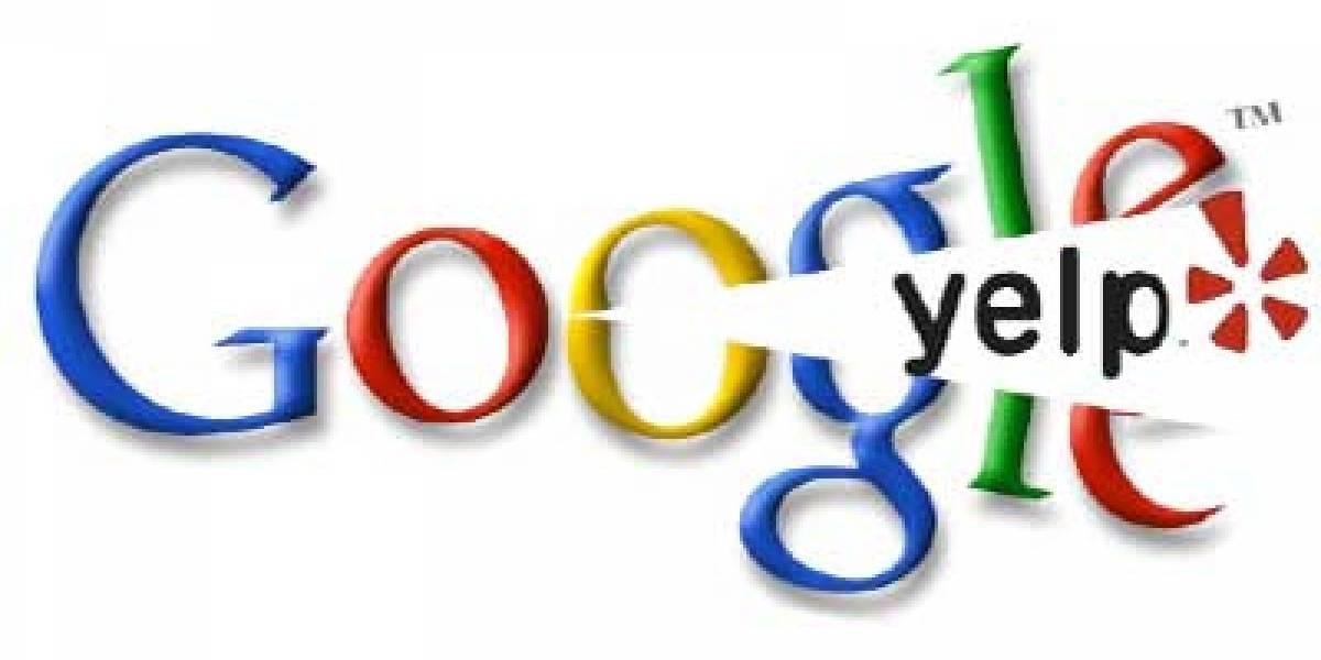Google amenaza a Yelp: los vamos a sacar del buscador