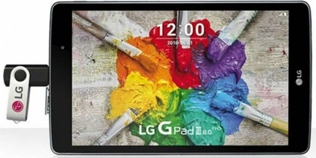 LG presenta nueva tablet G Pad III 8.0