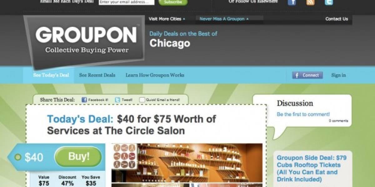 GroupOn valdría USD 15.000 millones en bolsa