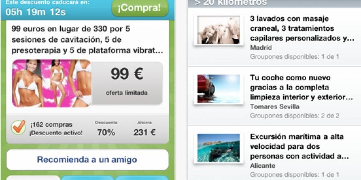 España: Groupon también se atreve en el iPhone