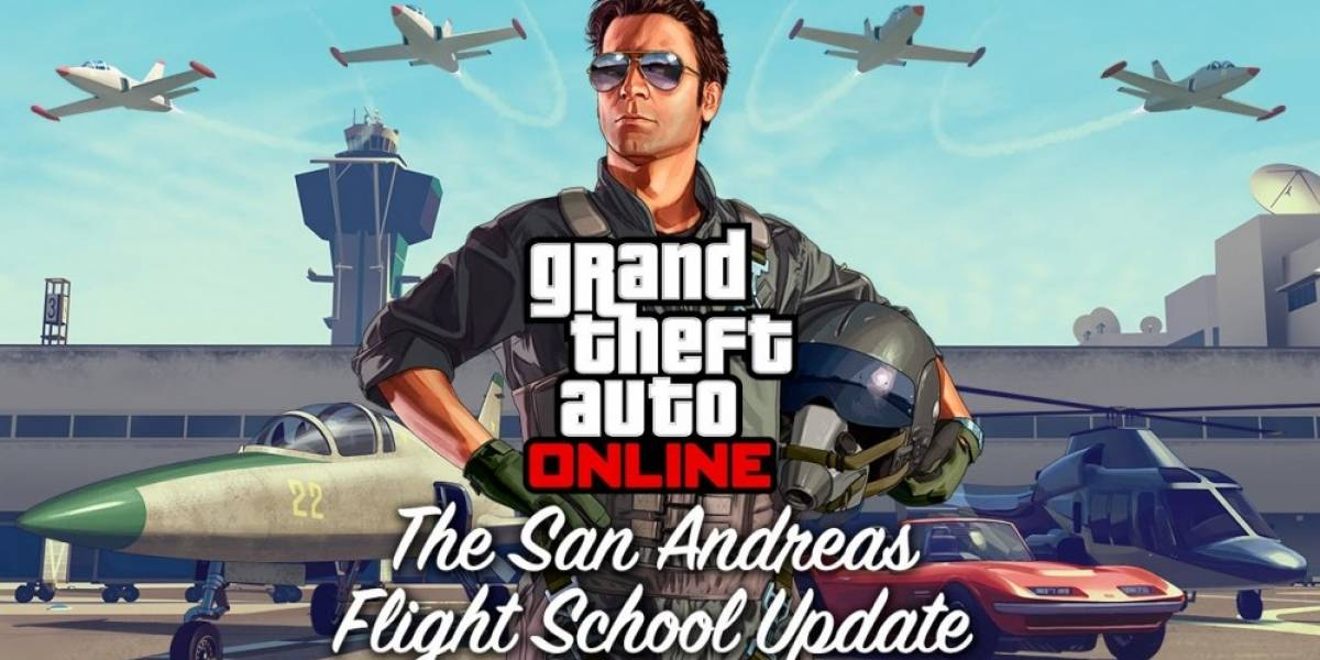 Mañana se lanzará la actualización San Andreas Flight School para GTA Online
