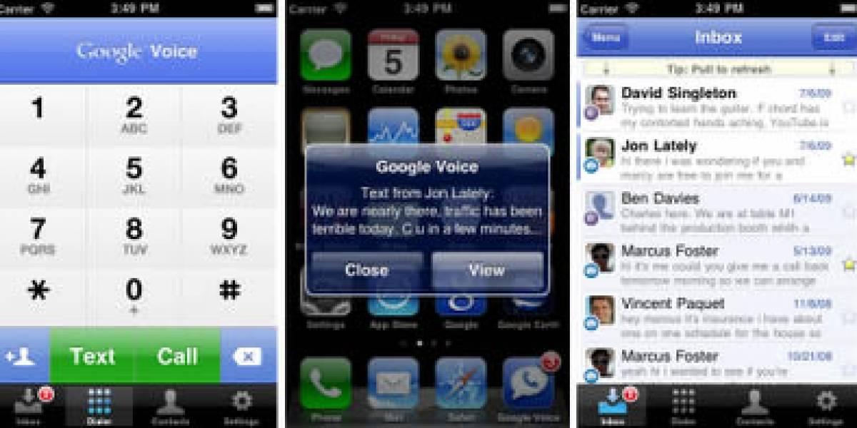 Aplicación oficial de Google Voice ya está de vuelta en la App Store