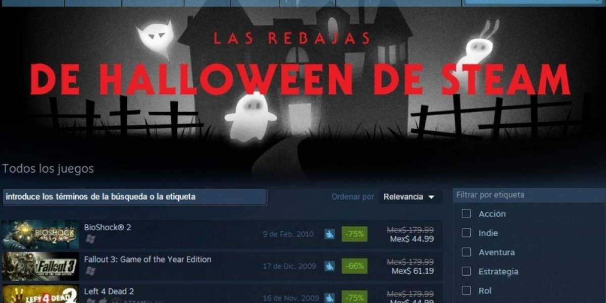 Arrancan las rebajas de Halloween de Steam