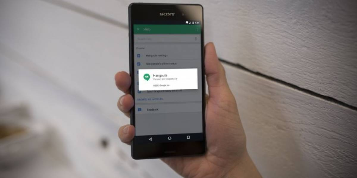 Hangouts 5.0 ya está disponible para Android