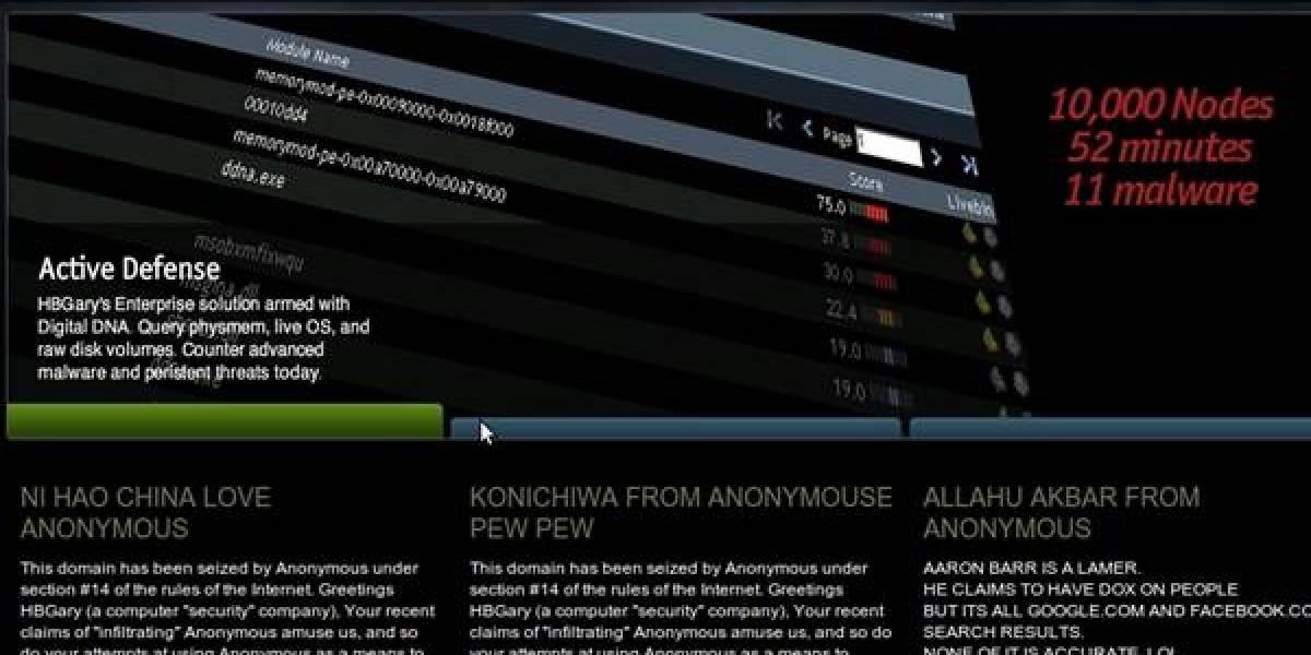 HBGary intenta averiguar identidad de Anonymous, salen trasquilados