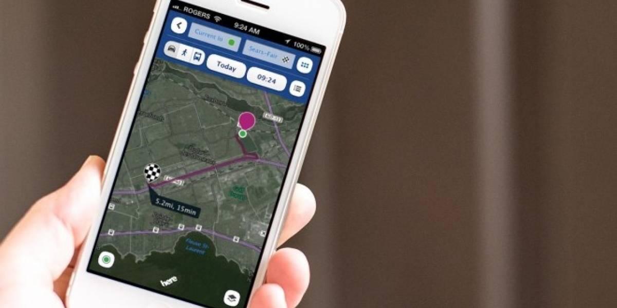 HERE Maps se actualiza con mejoras en los mapas offline y las líneas de transporte público