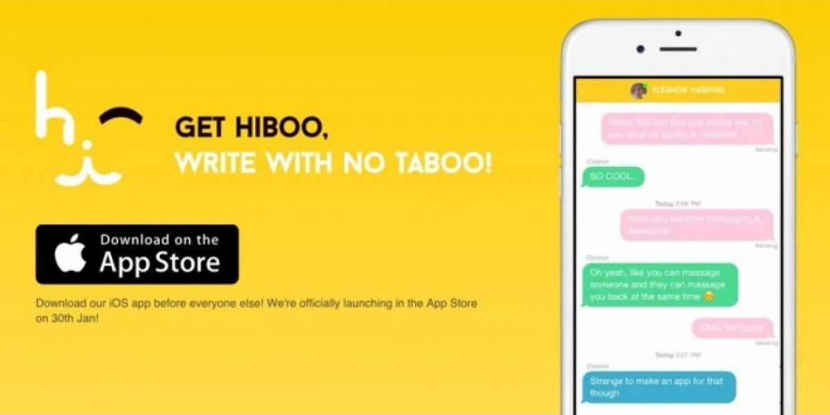 Hiboo te permite ver lo que tus amigos teclean, mientras lo teclean