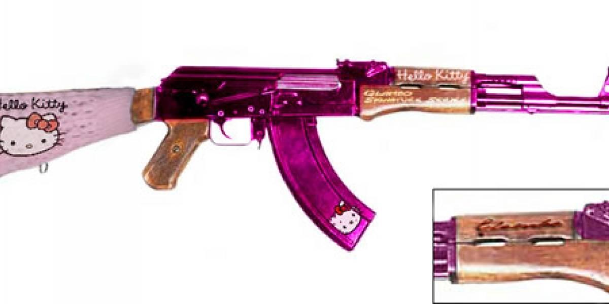 Impresentable: Fusil AK-47 de Hello Kitty