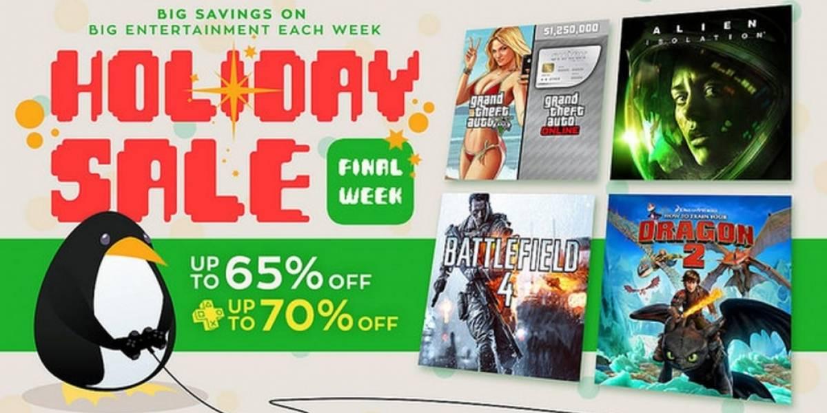 Última semana de las Ofertas de Navidad en PlayStation Store